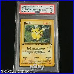 Pikachu W STAMPED 1ST EDITION 60/64 (PSA 10 GEM MINT) Jungle Set Pokemon Cards