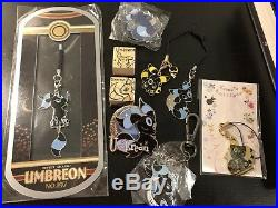 Pokebox ++ Pokemon Doujin Umbreon collection lot of charms pin and stamp