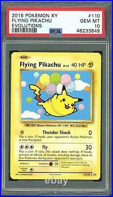 Pokemon 2016 XY Evolutions Flying Pikachu 110/108 Secret Rare PSA 10 Gem Mint