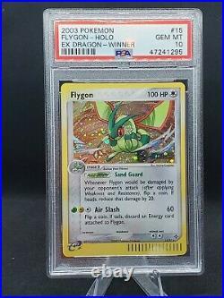 Pokemon Card EX Dragon Winner Stamp Holo Flygon 15/97 PSA 10 Gem Mint