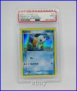 Pokemon Crystal Guardians Squirtle Reverse Holo Stamped 63/100 2006 PSA 9 MINT