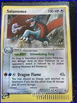 Pokémon League Promo WINNER Stamped Holo Salamence 19/97 League Reward near mint