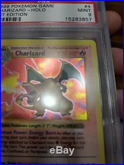Pokemon PSA 9 1st Edition Base Set Charizard 4/102 Mint Shadowless THICK Stamp