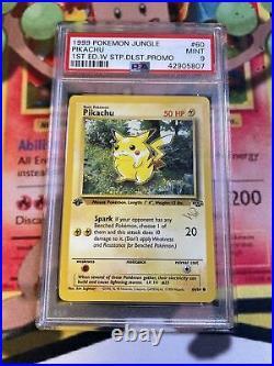 Pokemon Pikachu W Stamp Duelist Promo 1st Edition Jungle PSA 9 Mint