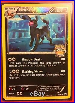 Pokemon TCG Dark Explorers Staff Stamped Umbreon Promo Card Mint