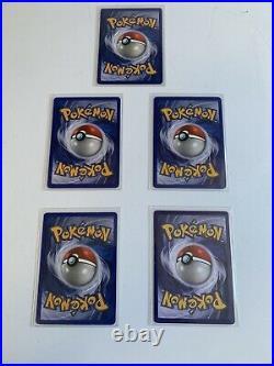 Pokemon W stamp Wizard Promo Cards Lot Pikachu 1st Edition Wartortle Vulpix