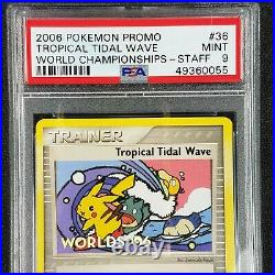 Pokemon World Championships 2006 Tropical Tidal Wave STAFF Promo PSA 9 Mint