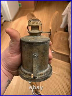 Rare Antique Universal Metal Spinning & Stamping Co. NY Brass Navy Lantern Mint