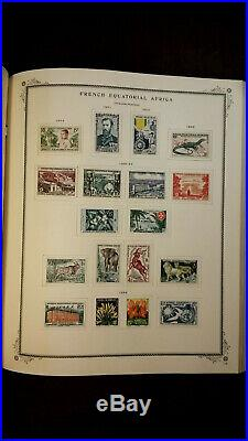 SCOTT SPECIALTY SERIES FRENCH AFRICA, 2 books + over 1300 MINT Condition Stamps