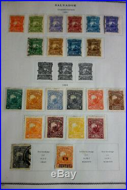 Salvador Stamp Collection Mint & Used Nice Old-time