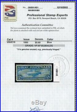 Scott #C15 Graf Zeppelin Air Mail Mint Stamp withPSE Cert (Stock #C15-86) VF-XF85