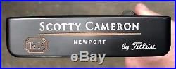 Scotty Cameron Teryllium Newport Sole Stamp Putter MINT Xtreme Dark Finish