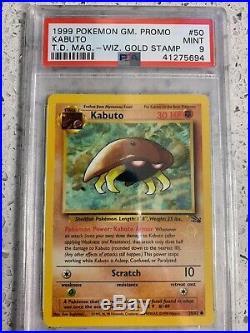Set of 7 x Gold W Stamp Promos WOTC Pikachu Wartortle PSA 9 MINT Rare Pokemon