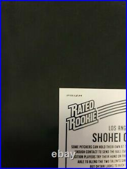 Shohei Ohtani 2018 Rated Rookie Optic Aqua prizm Short Print serial 61/299