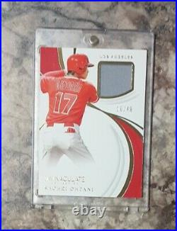 Shohei Ohtani Immaculate Collection Game worn Relic 1/49 serial Numbered RARE