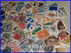 Stamp Pickers Canada Classic Stamps QV-QEII 100,000 WithDups Estate Collection Lot