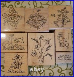 Stampendous Fluffles Cat Christmas Kitty Stamp Lot Of 20 + Clear Set Of 23