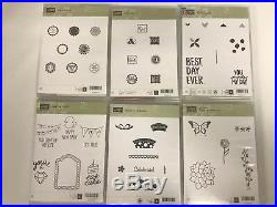 Stampin' Up! Lot of 39 Clear Mount Stamp Sets Birthday-Flower-Phases-Pedal Push