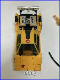 Transformers G1 Original Vintage 1980s Circle Stamp Takara Sunstreaker Lot