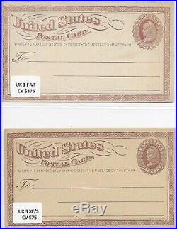 US Postal Postcards UX 1, UYs & more Lot +450 Rare Antique Mint & Used Sv +$1930