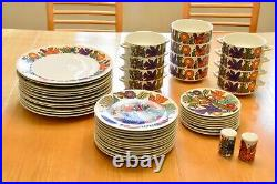 VILLEROY & BOCH ACAPULCO Blue Stamp Luxembourg 83 Piece Set Mint