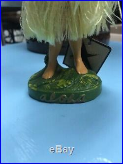 VINTAGE 1950s HAWAIIAN HULA GIRL BOBBING NODDER Stamped Made In Japan MINT