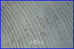 VINTAGE AVEDIS ZILDJIAN 18 RIDE CRASH CYMBAL 1.25 STAMP 1559 grams! LOT #E446