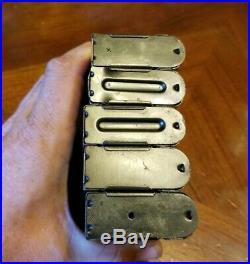 VTG LOT OF 5 WWII M1 Carbine Magazine 10 Round Stamped KI BW UQ R-O G-Q USED