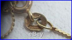 Vintage 14 Ct Gold Necklace Stamped 585 45 CM Long Estate Lot