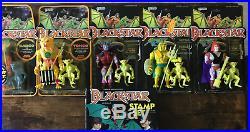 Vintage 80's Galoob Lot 6 Blackstar Tongo Gargo Overlord Neptul Kadray Stamp Set