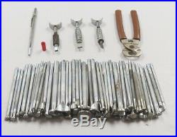 Vintage CRAFTOOL Leather Stamping Tools lot of 104 Pieces All #'s in DESCRIPTION