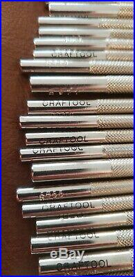 Vintage Craftool Leather Stamp Tools, Lot of 42stamp, great starter set