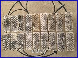 Vintage Craftool Leather Stamp Tools, Lot of 638