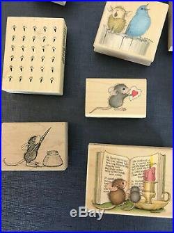 Vintage House Mouse Rubber Stamp Lot Of 19 More! Wooden Stamps Stamping