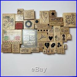 Vintage Huge 240 + Piece LOT of 1990's-2000's Wood Mount Rubber Stamps