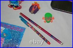 Vintage LISA FRANK Lot polar bear seal pup tin stickers pad paper pencil stamp