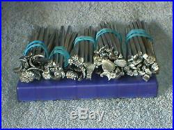 Vintage Lot (100) Craftool Leather Stamping Tools Leather Working, 4 Midas