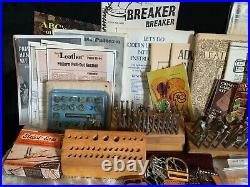 Vintage Lot of CraftAid & Craftools Leather Working Tools Stamps Templates Books