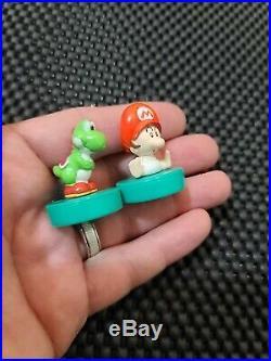 Vintage Nintendo Yoshis Island Stamp figures Mini LOT6 Rare Promo Retro Mario 90