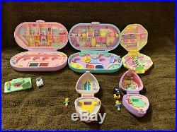 Vintage Polly Pocket Lot- Dream World, Salon, Stamp Set, And More