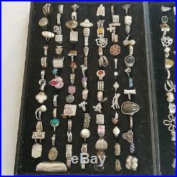 Vintage Sterling Silver925 Stamped Natural Gemstone RINGS Jewelry Lot 1280 Grams