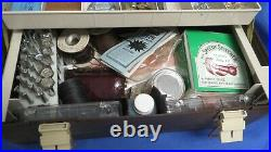 Vintage Tandy Leathercraft Box with Leather Stamping Tools and More