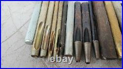 Vtg big lot craftool leather stamp punch kit set leathercraft tools