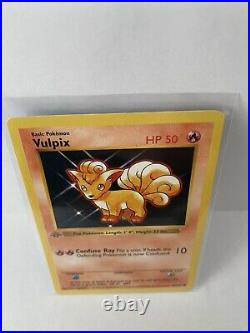 Vulpix 1st Edition Shadowless Base Set 68/102 Pokemon Card Grey Stamp Gem Mint