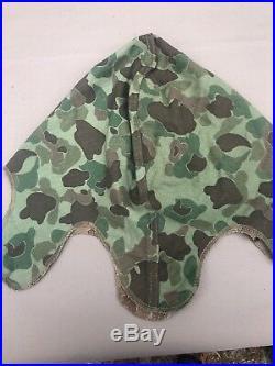 WW2 US Marine Corp 1st Pattern Helmet Cover Mint Unissued No EGA Stamp