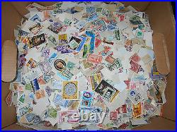 World wide foreign stamp mix Five pounds off-paper bulk lot REDUCED PRICE