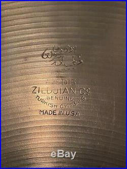 Zildjian 14 A Hi-Hat (Pair) TRANS STAMP 715/718g 1950s Thin Avedis NEARLY MINT